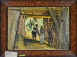 Irena WEISS – ANERI (1888-1981), Młocka w stodole I, 1962