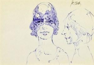 Roman BANASZEWSKI (1932-2021), Szkice popiersia kobiet
