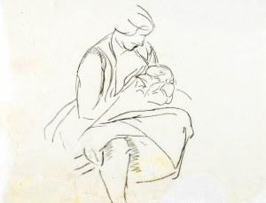 Leopold GOTTLIEB (1883-1934), Kobieta trzymająca dziecko