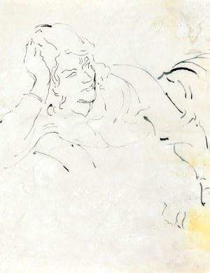 Leopold GOTTLIEB (1883-1934), Szkic przytulającej się pary