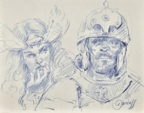 Dariusz Kaleta Dariuss (Ur. 1960), Szkic popiersia dwóch rycerzy
