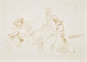 Dariusz Kaleta Dariuss (Ur. 1960), Rycerz na koniu zadający cios mieczem