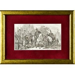 Juliusz KOSSAK (1824-1899), Pożegnanie Pana Mohorta przed drogą z Warszawy na Ukrainę