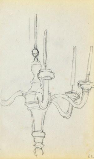 Jacek MALCZEWSKI (1854-1929), Szkic żyrandola ze świecami