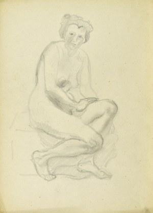 Kasper POCHWALSKI (1899-1971), Akt siedzącej kobiety, 1953