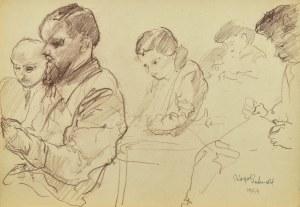 Kasper POCHWALSKI (1899-1971), W poczekalni, 1954