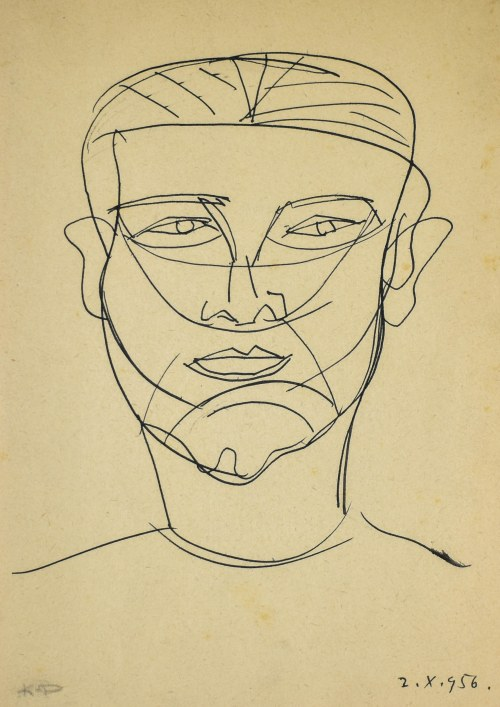 Kazimierz PODSADECKI (1904-1970), Twarz, 1956