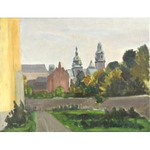 Władysław SERAFIN (1905-1988), Widok na Katedrę Wawelską