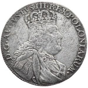 August III, Ort koronny 1754, Lipsk, długa głowa