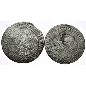 Zygmunt III Waza, szóstak 1623 data rozdzielona, Kraków, szóstak 1623, data w otoku - razem 2 sztuki