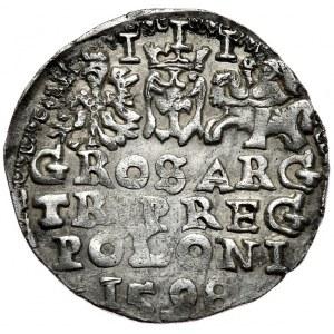 Zygmunt III Waza, trojak 1598, Lublin, pełna data na rewersie