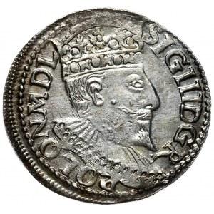 Zygmunt III Waza, trojak 1595, Olkusz, D G R - POLON