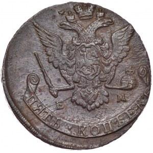 Rosja, Katarzyna II, 5 kopiejek 1771 EM, Jekaterinburg