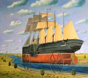 Adam Swoboda,Statek ze srebrnymi kołami,2021