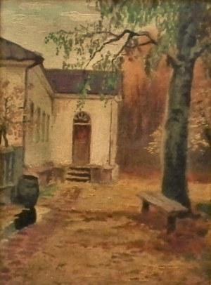 Bronisława Rychter-Janowska(1868-1953),Szkic-Zaułek dworski,1949