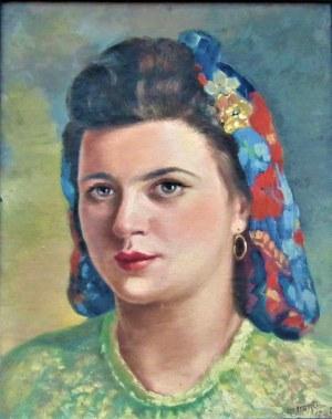 artysta nierozpoznany,Portret kobiety ,1945