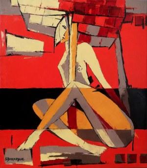 Elżbieta Boukourbane (ur. 1958), W czerwonej przestrzeni, 2021