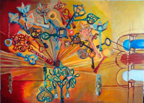 Magdalena Kurek (ur. 1979), Trzy kolory-czerwony, 2021