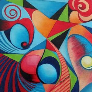 Krystyna Krzyszczyk (ur. 1959), Kolorowe myśli, 2021