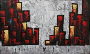 Filip Łoziński (ur. 1986), Czerwona kompozycja, 2021