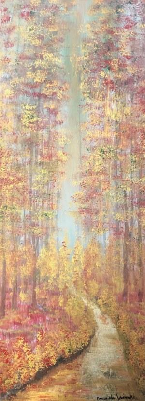 Mariola Świgulska (ur. 1961), Wytchnienie nad leśnym strumykiem, 2021