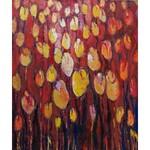 Beata Gaudy (ur. 1989), Żółte tulipany w czerwieni, 2020