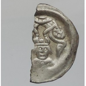 Přemysl Otakar II. 1253-1278, brakteát moravský, Cach -, Grossmannová -