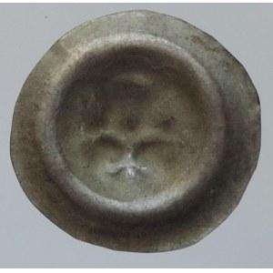 Václav II. 1278-1305, brakteát moravský Cach 1007, Grossmannová 102