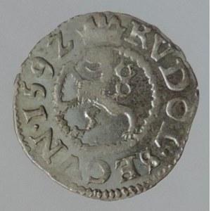 Rudolf II. 1576-1611, bílý peníz 1592