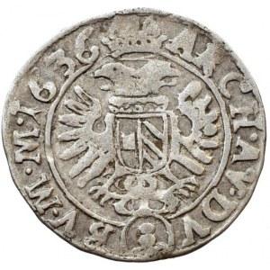 Ferdinand II. 1619-1637, 3 krejcar 1636 Praha