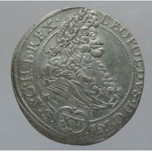 Leopold I. 1657-1705, XV krejcar 1694 MMW Vratislav