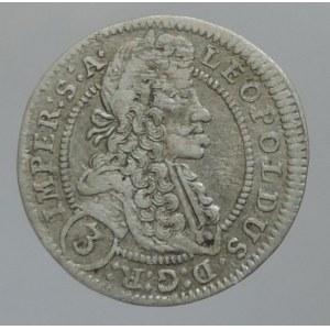 Leopold I. 1657-1705, 3 krejcar 1704 GE Praha