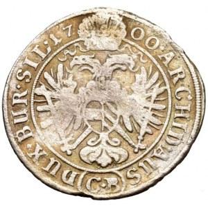 Leopold I. 1657-1705, 3 krejcar 1700 CB Břeh