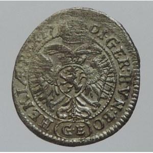 Leopold I. 1657-1705, 1 krejcar 1701 GE Praha