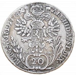 Marie Terezie 1740-1780, 20 krejcar 1778 EvS-IK, Praha