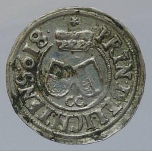 Liechtenstein Karel 1614-1627, 3 krejcar 1618 Opava