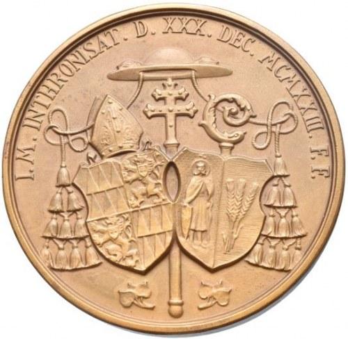 Olomouc arcibiskupství, Leopold Prečan 1923 - 1947, intronizační medaile