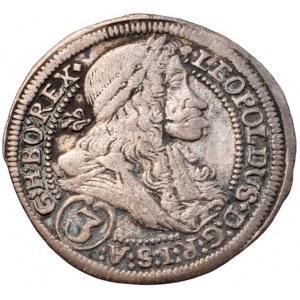 Leopold I. 1657-1705, 3 krejcar 1704 IA Štýrský Hradec