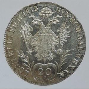 František II. 1792-1835, 20 krejcar 1813 A