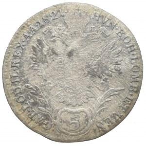František II. 1792-1835, 5 krejcar 1821 A