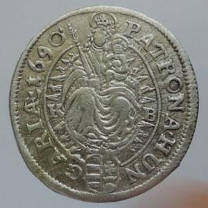 Leopold I. 1657-1705, XV krejcar 1690 KB