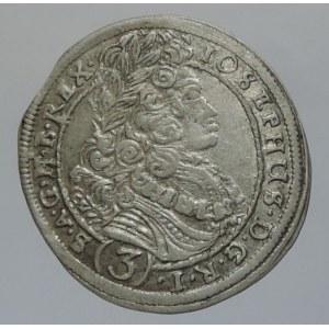 Josef I. 1705-1711, 3 krejcar 1711 CH/PW Bratislava