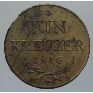 František II. 1792-1835, Cu 1 krejcar 1816 G Nagybánya