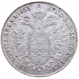 Konvenční a spolková měna, tolar konvenční 1855 A