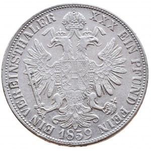 Konvenční a spolková měna, tolar spolkový 1859 M
