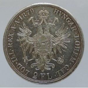 Konvenční a spolková měna, 2 zlatník 1879 b.z.
