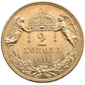 Korunová měna, 2 kor. 1913 KB