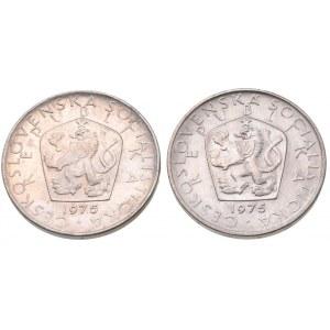 ČSR 1945-1992, 5 Kč 1975, obě var.