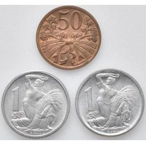 ČSR 1945-1992, 1 Kč 1951, 52, 50 hal. 1950