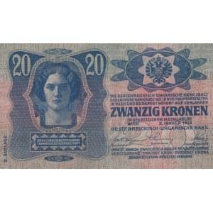 Rakousko-Uhersko, 20 K (2.1.1913), II. vydání série 1076